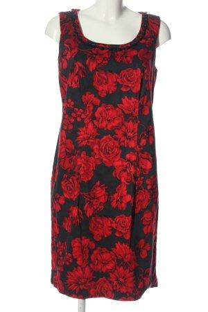 bpc selection Mini-jurk zwart-rood volledige print casual uitstraling