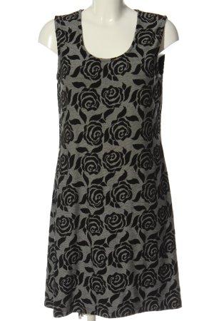 BPC Selection Premium A-Linien Kleid hellgrau-schwarz Allover-Druck Elegant