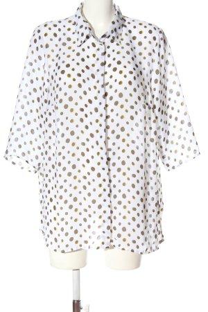 BPC Selection Premium Hemdblouse wit-bruin volledige print casual uitstraling