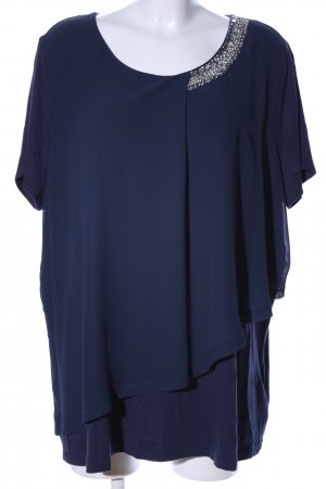 BPC Selection Premium Kurzarm-Bluse blau Business-Look