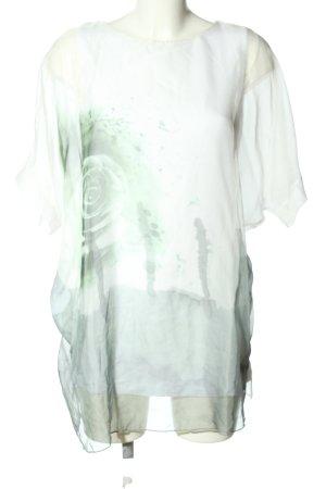 BPC Selection Premium Camicetta a maniche corte bianco-grigio chiaro