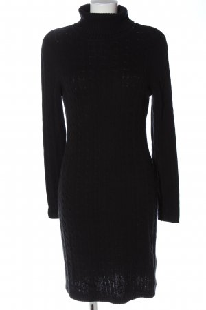 BPC Selection Premium Longsleeve Dress black cable stitch casual look