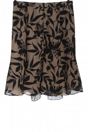 BPC Selection Premium Midi-rok zwart-bruin volledige print casual uitstraling