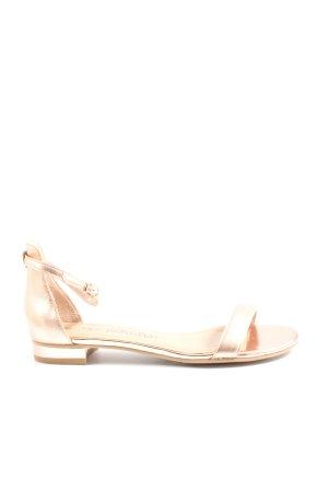 BPC Selection Premium Sandały na obcasie z rzemykami złoto W stylu casual