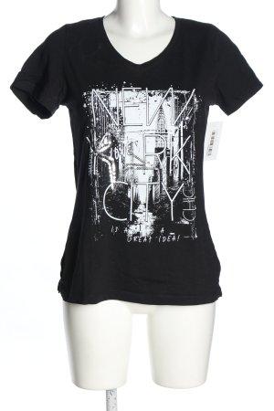 bpc selection Print Shirt black-white themed print casual look