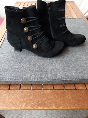 bpc selection Reißverschluss-Stiefeletten schwarz Causal-Look