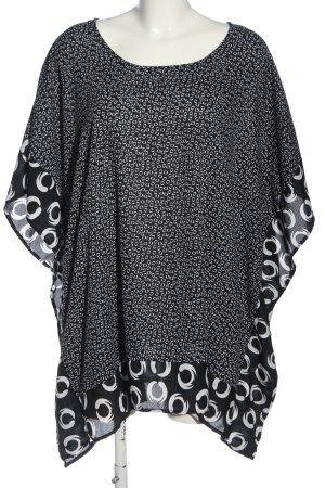 bpc selection Schlupf-Bluse schwarz-weiß Allover-Druck Casual-Look