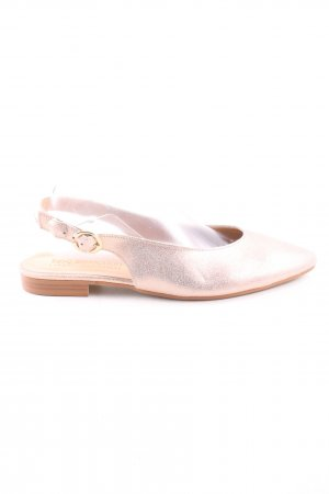 bpc selection Slingback ballerina's goud casual uitstraling