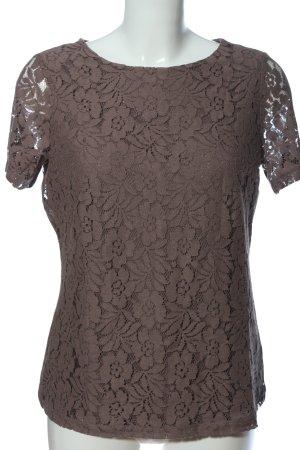 bpc selection Kanten blouse bruin volledige print casual uitstraling
