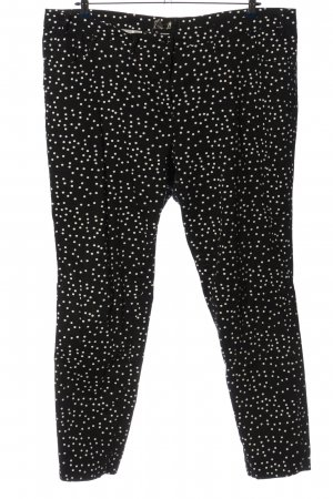 bpc selection Jersey Pants black-white spot pattern casual look