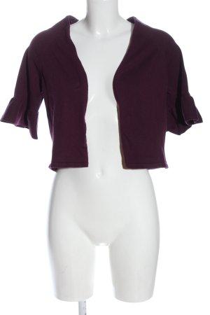 bpc selection Bolerko z dzianiny fiolet Warkoczowy wzór W stylu casual