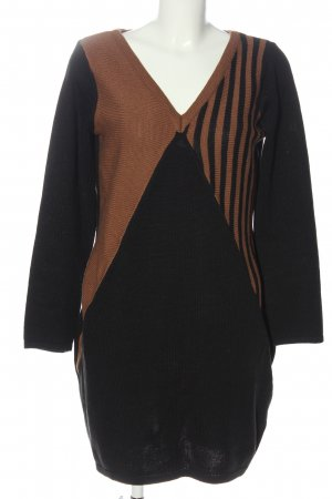bpc selection Knitted Dress black-brown striped pattern casual look