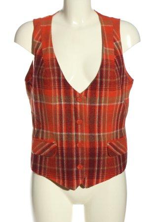 bpc selection Knitted Vest red-khaki allover print elegant