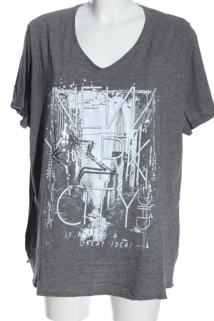 bpc selection T-Shirt light grey-white flecked casual look