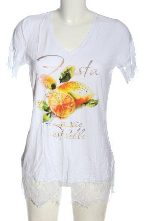 bpc selection V-Neck Shirt themed print casual look