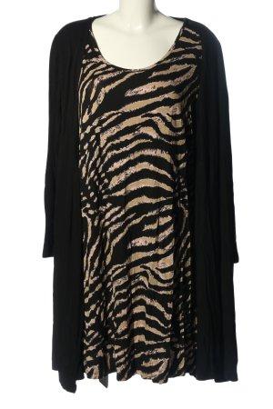 bpc Robe t-shirt noir-crème motif abstrait style décontracté