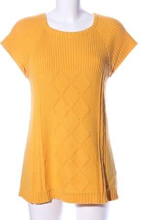 bpc Strickshirt hellorange Casual-Look
