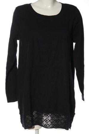bpc Strickshirt schwarz Casual-Look