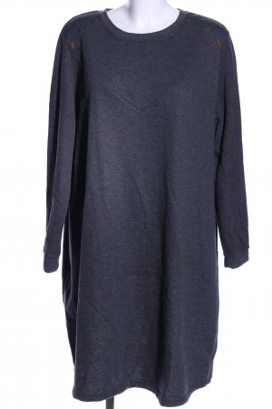 bpc Sweat Dress blue allover print casual look