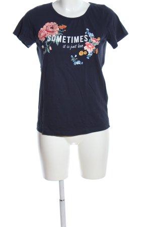 bpc T-Shirt schwarz Motivdruck Casual-Look