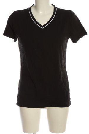 bpc T-Shirt schwarz-weiß Casual-Look