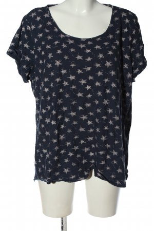 bpc Boothalsshirt blauw-wit volledige print casual uitstraling