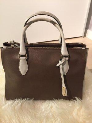 abro Handbag grey brown-cream