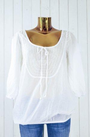 Braez Short Sleeved Blouse white cotton