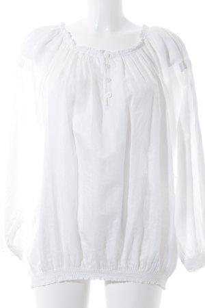 Braez Langarm-Bluse weiß
