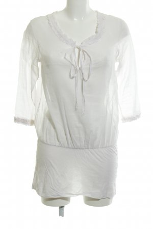 Braez Lange blouse wit Logo applicatie