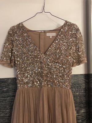 Asos Maxi Dress rose-gold-coloured-nude