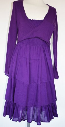 Braintree Midi Dress dark violet cotton