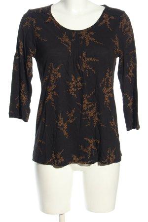 Braintree Koszulka z długim rękawem czarny-brąz Na całej powierzchni
