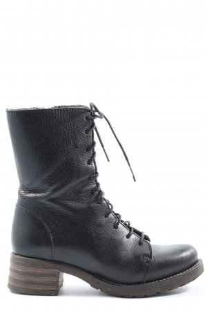 Brako Bottes à lacets noir style décontracté