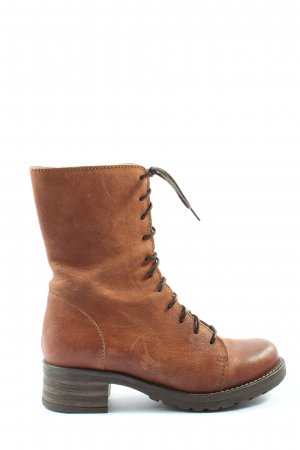 Brako Bottes à lacets brun style décontracté