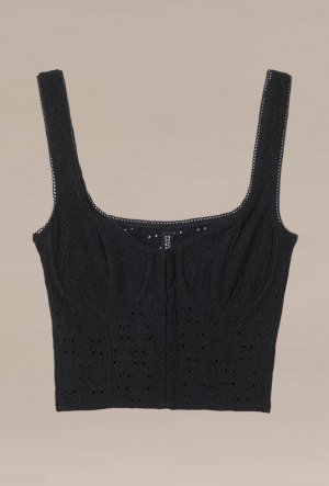 H&M Divided Top tipo bustier negro