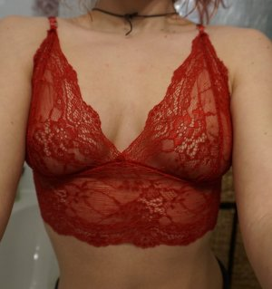 bralette süß lace red rot blogger fashion boho insta style