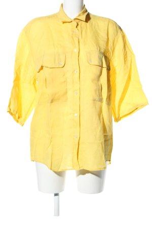 Bramante Kurzarm-Bluse blassgelb Casual-Look