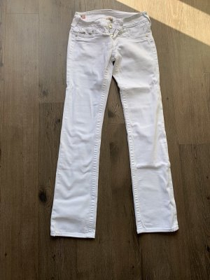 Brand Drainpipe Trousers white