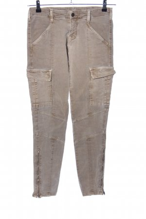 Brand Low-Rise Trousers brown casual look