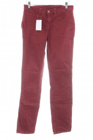 Brand Low-Rise Trousers brick red casual look