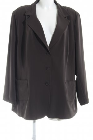 Brand Jersey Blazer dark brown casual look