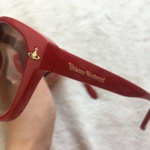 Vivienne Westwood Owalne okulary przeciwsłoneczne ceglasty