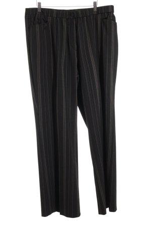 Brand Stoffen broek zwart-lichtbruin klassieke stijl