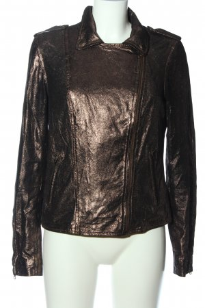 Brandalism Biker Jacket bronze-colored casual look