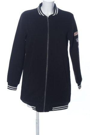Brandalism College Jacket black-white printed lettering casual look
