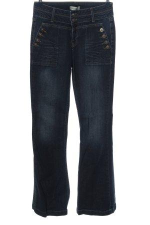 Brandalism Jeans a vita alta blu stile casual