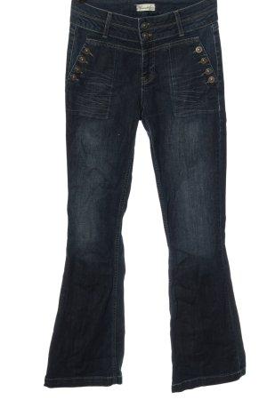 Brandalism Jeans flare bleu style décontracté