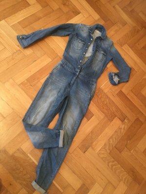 Brandalism Langer Jumpsuit bleu acier