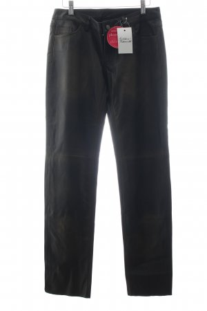 Brandalism Leather Trousers black extravagant style leather